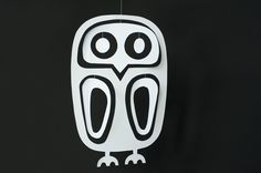 Paper Owl Mobile by madebyjoel: Free template to print! #Mobile #Owl #Kids #madebyjoel