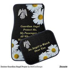 Daisies Guardian Angel Prayer Car Mat
