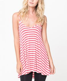 Look what I found on #zulily! Coral Stripe Hi-Low Tank by Caralase #zulilyfinds