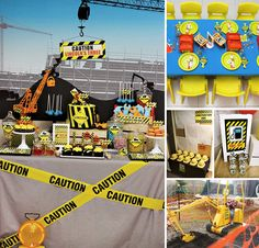 This 3rd birthday is by Sugar Coated Candy & Dessert Buffets (with printables by Bela Designs) is LOADED with creative ideas for a Fantastic Construction Themed Party! http://hwtm.me/15kPPqz