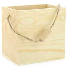 Wood Box with Rope Handle