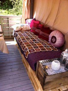 DIY Pallet Furniture for Terrace - Pallet sofa or Pallet daybed