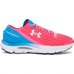 986d8ab063f Under Armour Women s SpeedForm Gemini 2 Running Shoes (Harmony Red Dynamo  Blue Metallic Silver