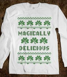 Magically Delicious Irish Sweater Saint Patricks Day T Shirt  #irish,#stpatricksday,#beer,#green,#tshirt,#shamrock,#funny
