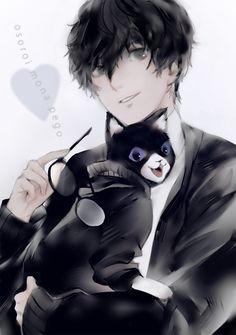 Persona Ren and Morgana Persona Five, Persona 5 Joker, Ren Amamiya, Best Rpg, Shin Megami Tensei Persona, Akira Kurusu, Beautiful Boys, Kawaii Anime, Anime Guys