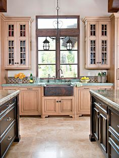 Try Travertine in the kitchen
