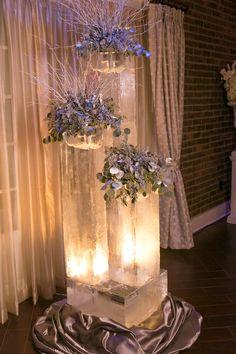 Лед и флористика в зимних свадьбах