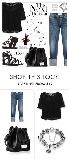 """""""Denim & Lace"""" by suzanne228 ❤ liked on Polyvore featuring Current/Elliott and MANGO"""