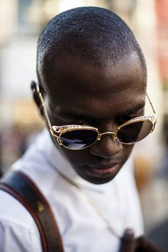 368c54020ca1 beautifulblackmen  Thierno BEAUTIFULBLACKMEN.TUMBLR.COM Gold Sunglasses