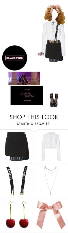 """As if it's your last M/V"" by hani-hanink ❤ liked on Polyvore featuring Versus, Carolina Herrera, Chanel, Wet Seal, Nasty Gal, River Island and ifiwereablackpinksmember"