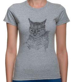 Koszulka z kotem.