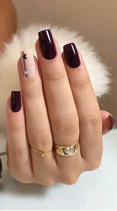 Look for the latest and most popular nail designs, acrylic nails . - Look for the latest and most popular nail designs, acrylic nails … …. # nails # of course - Red Nail Art, Purple Nail, Burgendy Nails, Magenta Nails, Nails Turquoise, Square Nail Designs, Nail Art Designs, Nails Design, Heart Nail Designs