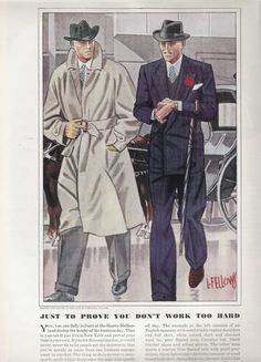 Esquire fashion illustrations - April 1938