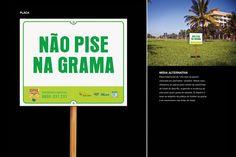 Placa de grama - Sesi Clube - Por Carlos André - Cadé - Percepttiva