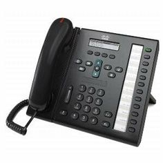Cisco, IP Phone 6961 Charcoal (Catalog Category: VoIP / Phones) Easy-to-read 396 x 81-pixel, white back-lit, monochrome, antiglare LCD for optimal viewing. Cisco Unified Video Advantage 2.2 and the VTIII Camera for elevated communications with video. Integrated 10/100 Ethernet switch for co-location of a PC reduce costs and wiring infrastructure. Single-call per-line appearance simplifies user exp... #Cisco #Wireless