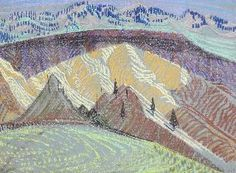 Landscape, 1963, Orville Fisher, pastel on paper, 18 x 24 in., Vancouver, British Columbia, Canada.