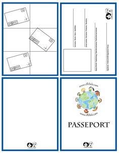 passport french - passport template - passport for kids -  passport - www.chillola.com