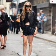 Cool all black and a hint of nude leather outfit