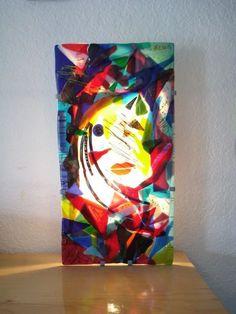Fused glass Art Panel Light