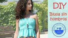 Top o blusa sin hombros, muy fácil Coser fácil y más Menudo Numerito - YouTube