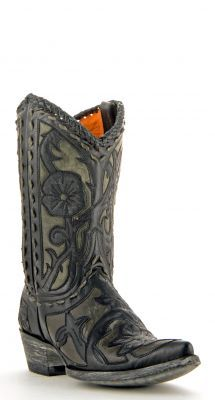 Womens Old Gringo Jude Boots Black And Grey #L043-42 via @Allens Boots