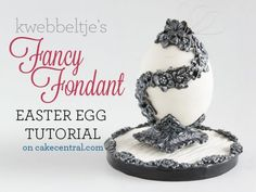 Návod This delicate egg cake is easier to decorate than you think. You can make this Faberge inspired egg with a few tools and some creativity,. Fondant Figures, Fondant Cakes, Cupcake Cakes, 3d Cakes, Art Deco Cake, Cake Art, Easter Bunny Cake, Easter Eggs, Easter Party