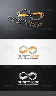 Infinity Logo: Symbol Logo Design Template created by bolpent. Business Logo Design, Modern Logo Design, Branding Design, Logo Design Template, Logo Templates, Logo Infinity, Machine Logo, Industry Logo, Photography Logo Design