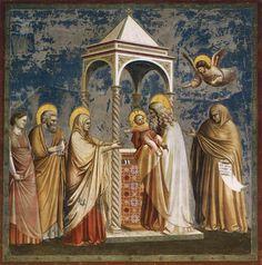 18- Padova, Cappella degli Scrovegni, Giotto- dalle storie di Cristo: Presentazione di Gesu nel tempio