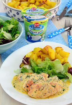 Piersi kurczaka w sosie jogurtowo-musztardowym Vegan Dinner Recipes, Healthy Recipes, Kitchen Recipes, Cooking Recipes, Yogurt, Food Design, Tasty Dishes, Chicken Recipes, Brunch