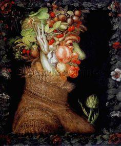 Scarlet Quince cross stitch chart: Summer - Giuseppe Arcimboldo