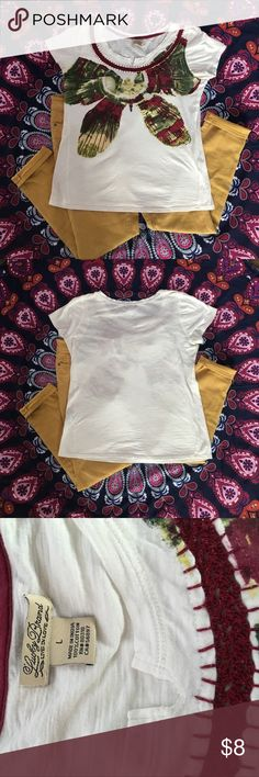 🍀Lucky Brand Butterfly Tee🍀 ✨Cute and comfortable tee 100% cotton with beautiful complementary colors! It's a happy shirt 😊✨🦋✨ Lucky Brand Tops Tees - Short Sleeve
