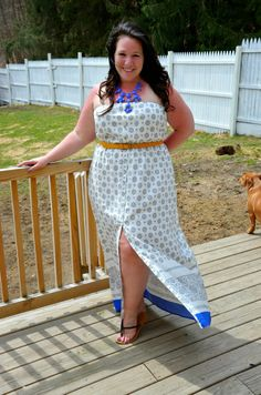 Full Figured & Fashionable: SUN PUNCHED -  dress is super cute and from Old navy