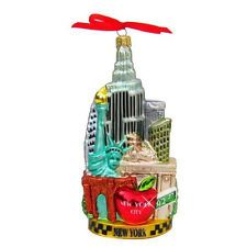 New York City Glass Christmas Ornaments from New York City Gift Shop Online