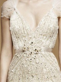 Jenny Packham wedding dress detail