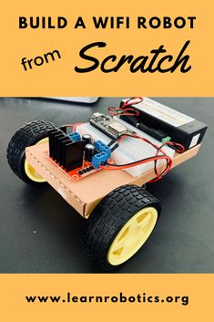 Learn how to build a Mini Wifi Robot car with this comprehensive eBook. Build skills in CAD modeling, circuit prototyping, and coding!