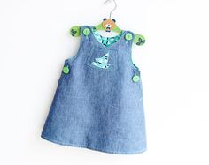 SAILBOAT Romper Dress Overall Girl Baby Girl pattern Pdf sewing pattern, Dungaree Skirt, newborn 3m 6m 9m 18m 1 2 3 4 5 6 years Instant