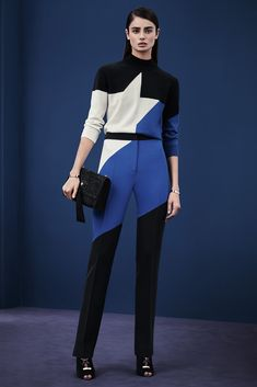 It's like a high fashion speed racer outfit. I love it! Versace - Pre-Fall 2015 - Look 14 of 34