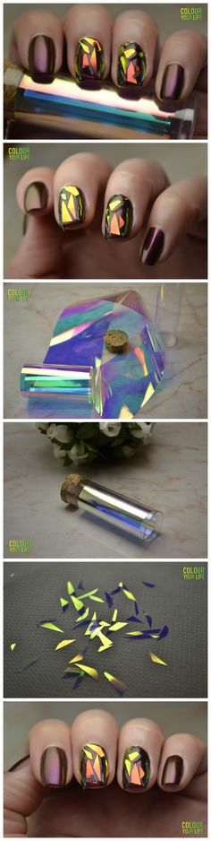 $3.99 1Pc Holographic Nail Foils Shiny Laser Foils Nail Art Transfer Sticker Paper - BornPrettyStore.com