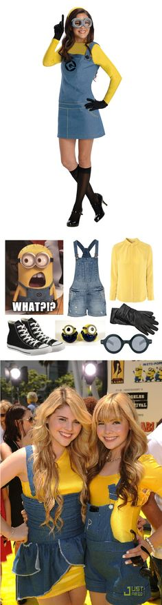 Despicable Me minion costume inspiration. Goggles and black gloves are a must!
