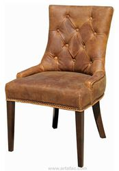 adéle leather dining chair | fabric arm & side chairs