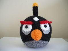 Angry Birds - Black Bird Amigurumi - Free Pattern - PDF Download