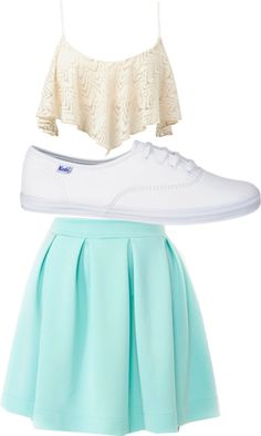 My fav outfit I have this outfit but i have a purple skirt I couldn't find the blue one but oh well it's worth it Cute Beach Outfits, Cool Outfits, Fasion, Fashion Outfits, Skater Fashion, 2015 Fashion Trends, Skater Skirts, Purple Skirt, Dirty Dancing