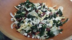 Kale, Fennel Salad with Apples, Cranberries and Goat Cheese drizzled with Maple Dijon Vinaigrette