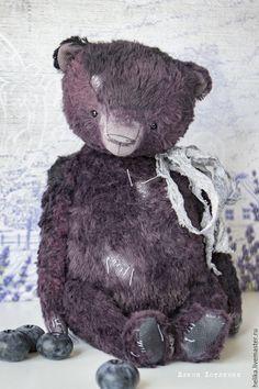 Купить Летние ягодки - тёмно-фиолетовый, мишки тедди, мишка, тедди, теддик, медвежонок