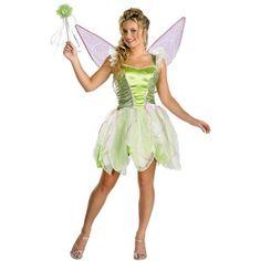 Tinker Bell Deluxe Teen Halloween Costume, Girl's, Green