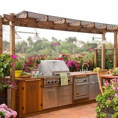 crunchylipstick: 70 Awesomely clever ideas for outdoor kitchen designs (via onekindesign.com)