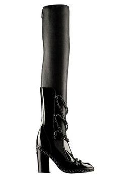 Chanel Glazed Calfskin High Boot in Chains