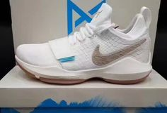 finest selection f4975 62347 2017 Nike PG 1 Ivory Oatmeal-Gum Light Brown-Vivid Sky. Nike Paul GeorgeAdidas  ...
