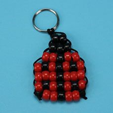 Pony Bead Ladybug Bead Pet - step by step photo tutorial