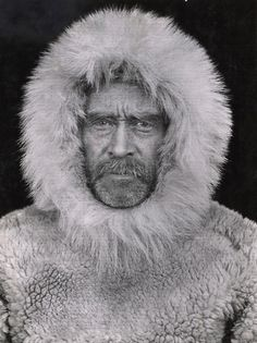 Admiral Robert Peary at his 1908 expedition to the North Pole